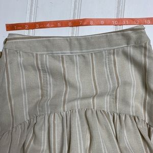 Anthropologie Skirts - Anthropologie Evonna Striped Pleated Midi Skirt 0